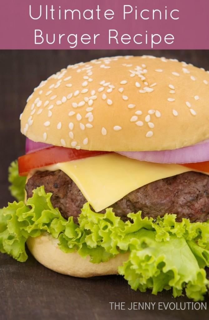 Ultimate Picnic Burger Recipe | The Jenny Evolution
