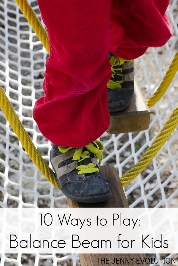 10 Ways to Play on a Balance Beam for Kids - Teaches them stability and body awareness | The Jenny Evolution