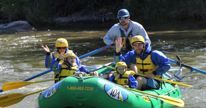 Family Rafting on the Arkansas River in Colorado