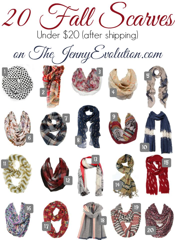 20 Fall Fashion Scarves All Under $20 after Shipping! on Mommy Evolution