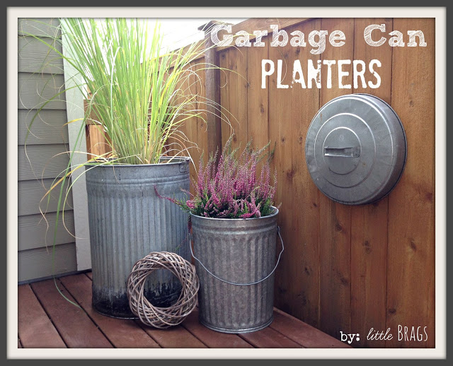 Upcycled DIY Garbage Can Planters Tutorial