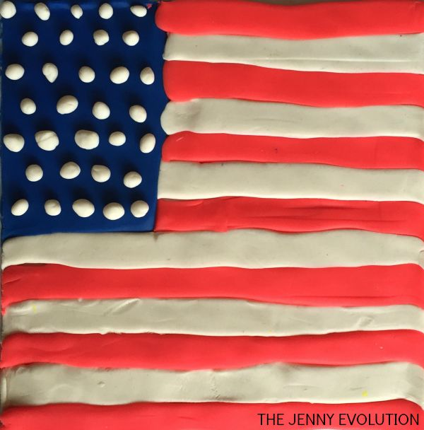 American Flag Made with Play-Doh | Mommy Evolution