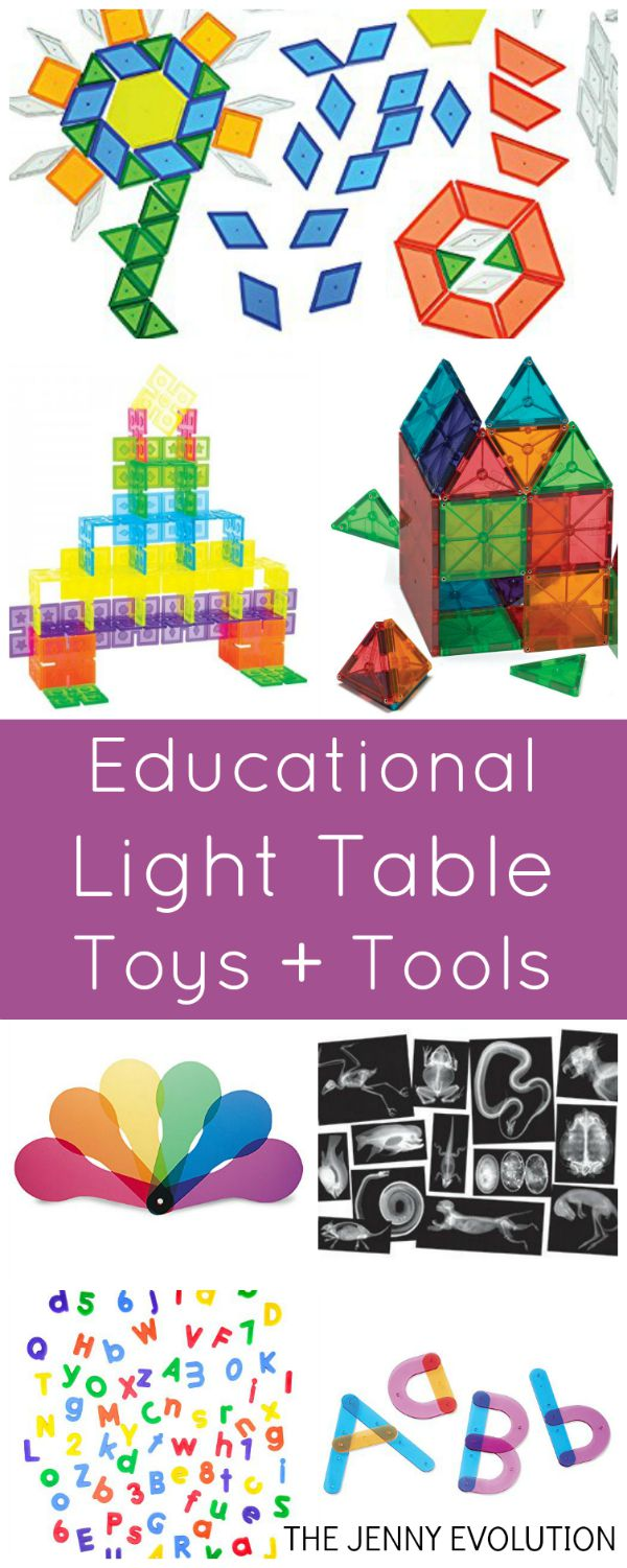 Best Educational Toys and Tools for Light Tables | Mommy Evolution