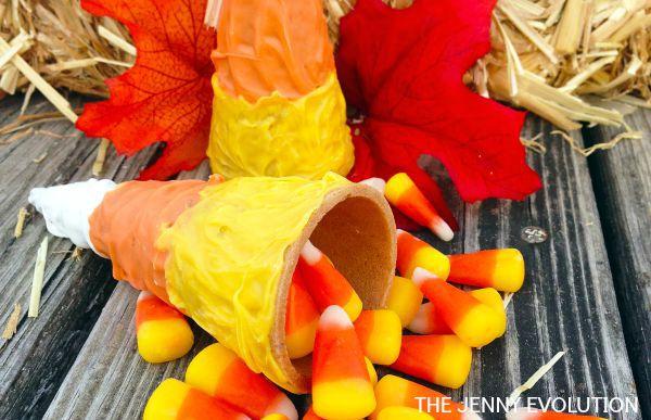 DIY Candy Corn Cone
