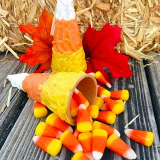 DIY Candy Corn Cone Tutorial | The Jenny Evolution