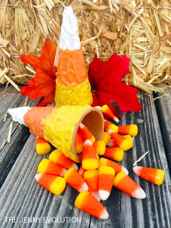 DIY Candy Corn Cone Tutorial | Mommy Evolution