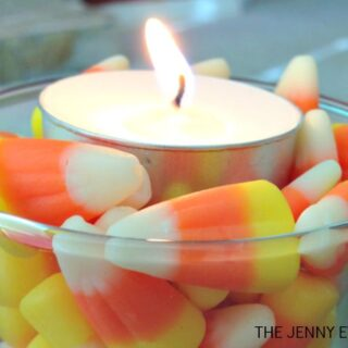 Frugal DIY Candy Corn Decorations | The Jenny Evolution