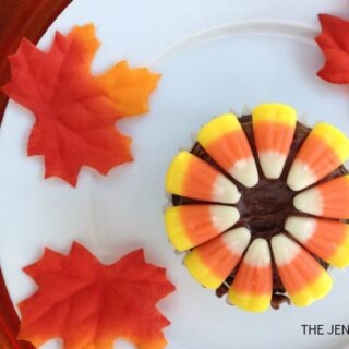 Flower Candy Corn Cupcakes