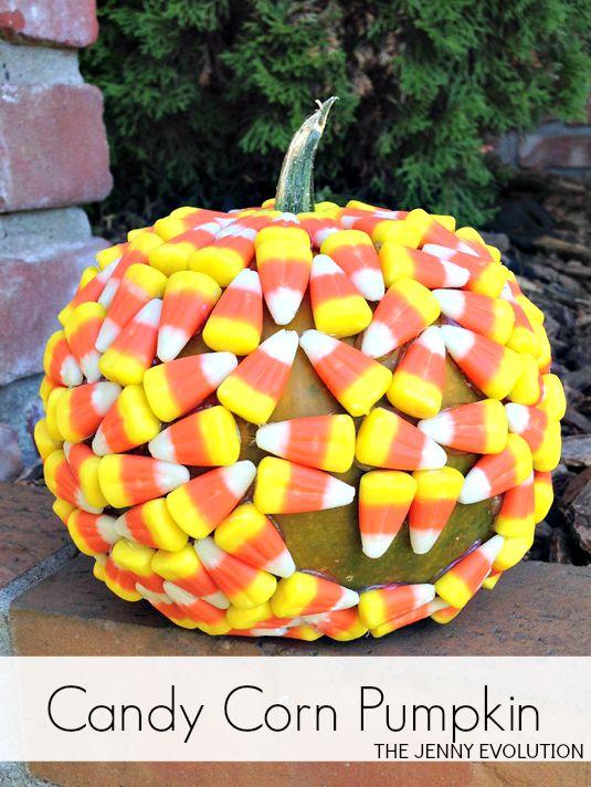 DIY Candy Corn Pumpkin Tutorial | Mommy Evolution