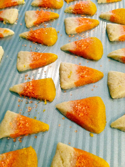 Candy Corn Sugar Cookies In Process 5