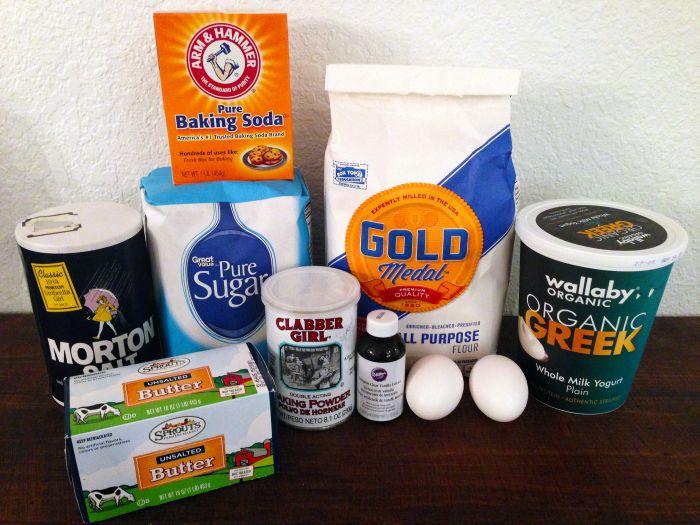 Candy Corn Sugar Cookies Ingredients #1