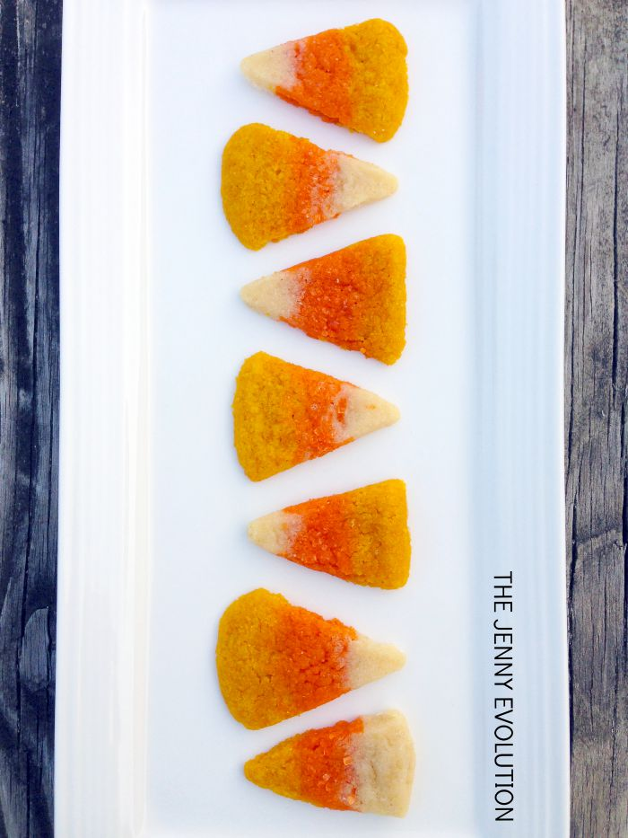Candy Corn Sugar Cookies Recipe | Mommy Evolution