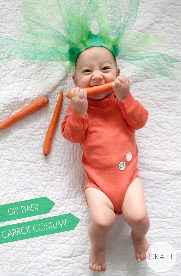 Isn't this the cutest?!? DIY Baby Carrot Costume Tutorial from C.R.A.F.T