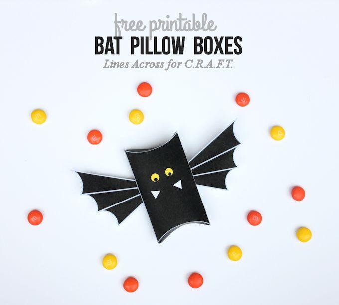 Free Printable! DIY Bat Pillow Boxes Tutorial