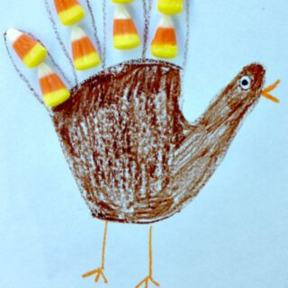Handprint Candy Corn Turkey Craft for Kids