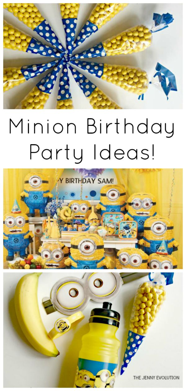minion birthday party ideas the jenny evolution. Black Bedroom Furniture Sets. Home Design Ideas