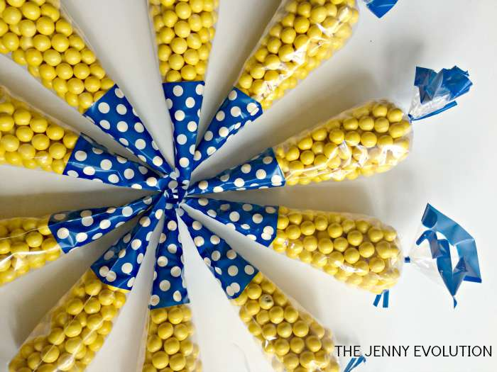 Minion Candy Snacks. Perfect for a Minion Birthday Party! from The Jenny Evolution