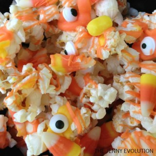 Halloween Monster Popcorn Candy Corn Recipe