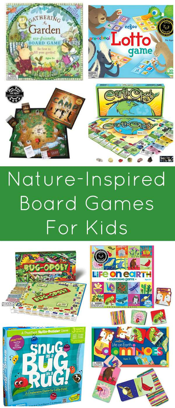 Nature Inspired Board Games for Kids, including Preschoolers! From Mommy Evolution