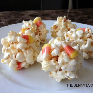 Popcorn Balls with Candy Corn | The Jenny Evolution
