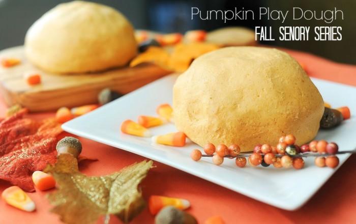 Pumpkin Play Dough Fall Sensory Series