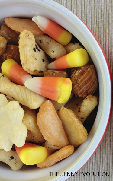 Rice Crackers Candy Corn Snack Mix