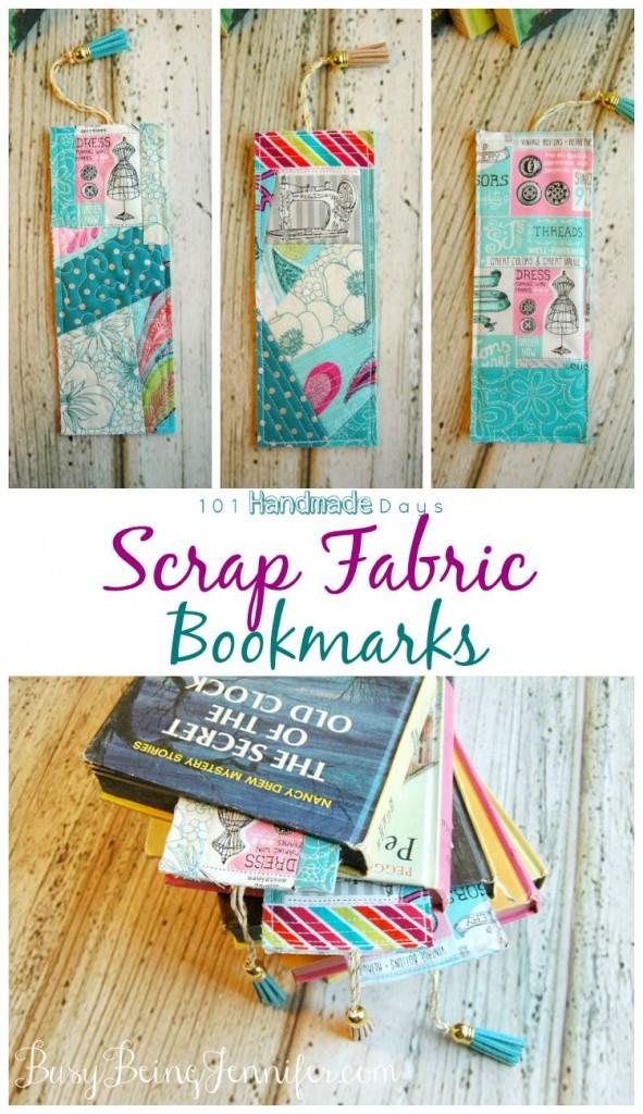 DIY Scrap Fabric Bookmarks Tutorial