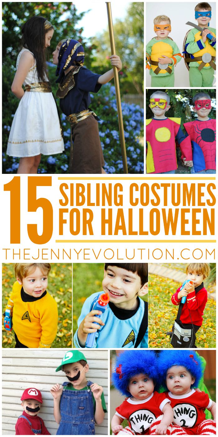 Sibling Halloween Costumes. Awesome ideas! | Mommy Evolution