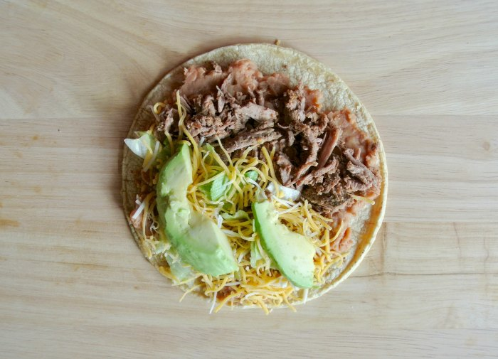 Tostada Taco Ingredients
