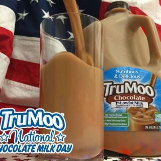TruMoo Chocolate Milk w Flag
