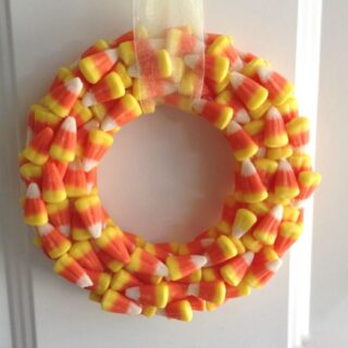 Wreath Made from Candy Corn