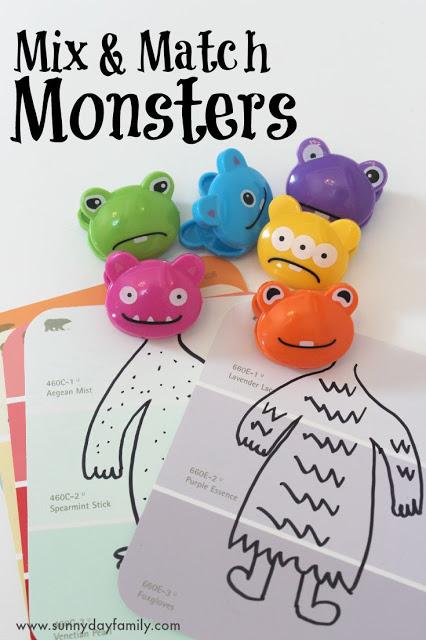 Mix & Match Monster Activity