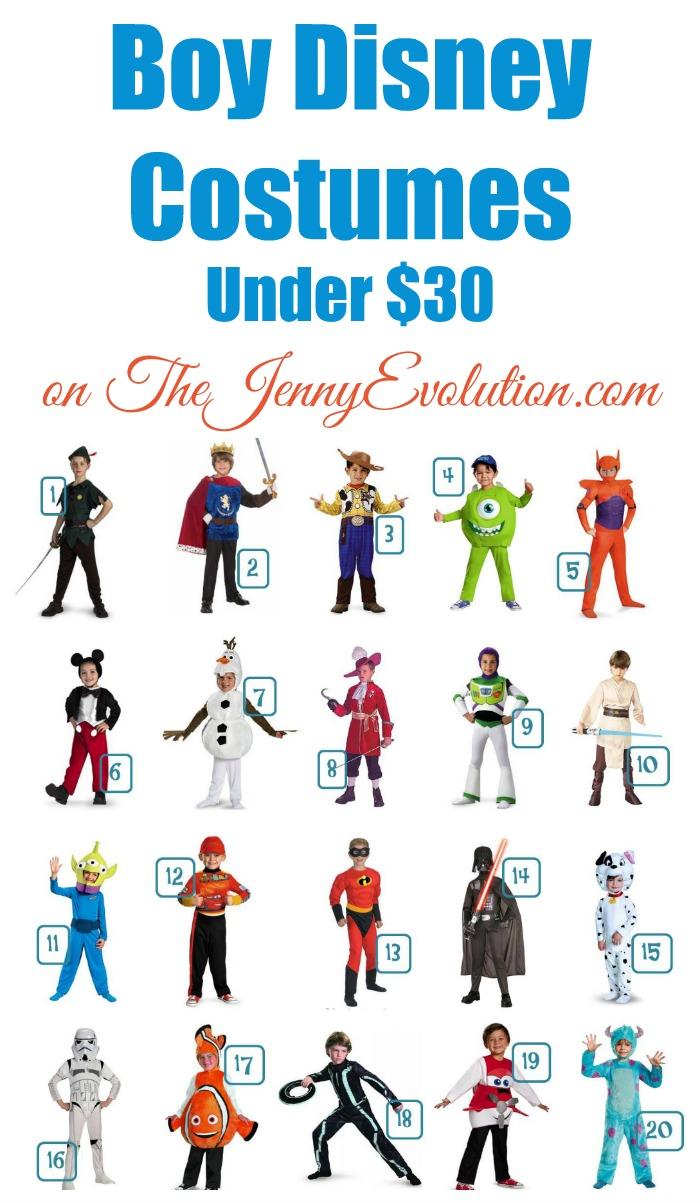 20 Boy Disney Costumer Under $30 | Mommy Evolution