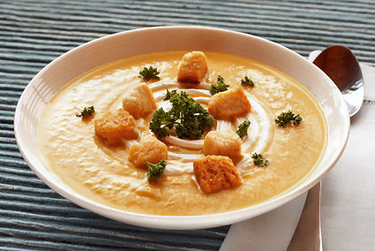 Creamy Butternut Squash Soup Recipe from The Wilderness Wife