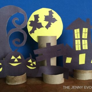 DIY Decor - Halloween Scene Paper Craft | The Jenny Evolution