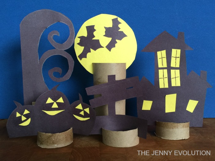 DIY Decor - Halloween Scene Paper Craft | Mommy Evolution