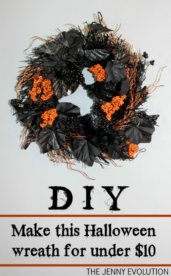 DIY Make this Halloween Wreath for under $10 | The Jenny Evolution