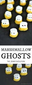 DIY Marshmallow Ghosts Treats Recipe | The Jenny Evolution