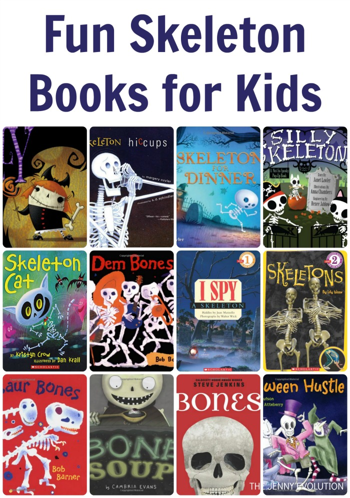 Fun Skeleton Books for Kids | The Jenny Evolution