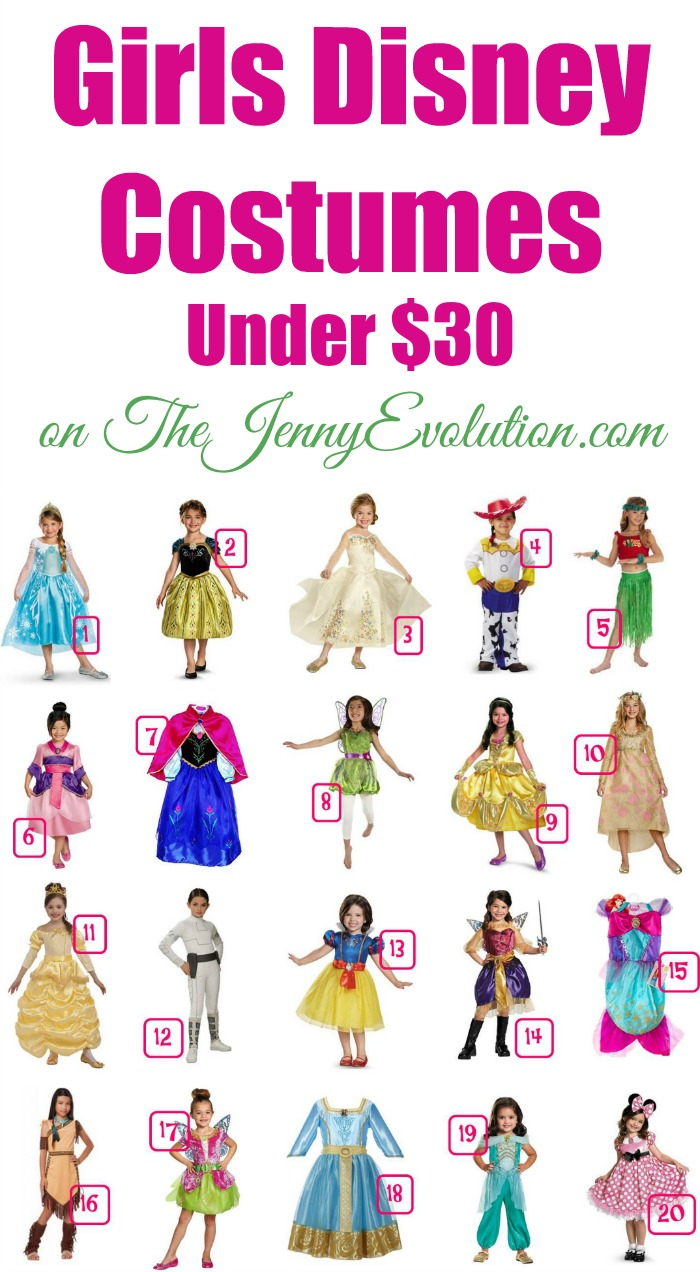 Girls Disney Costumes Under $30 | Mommy Evolution