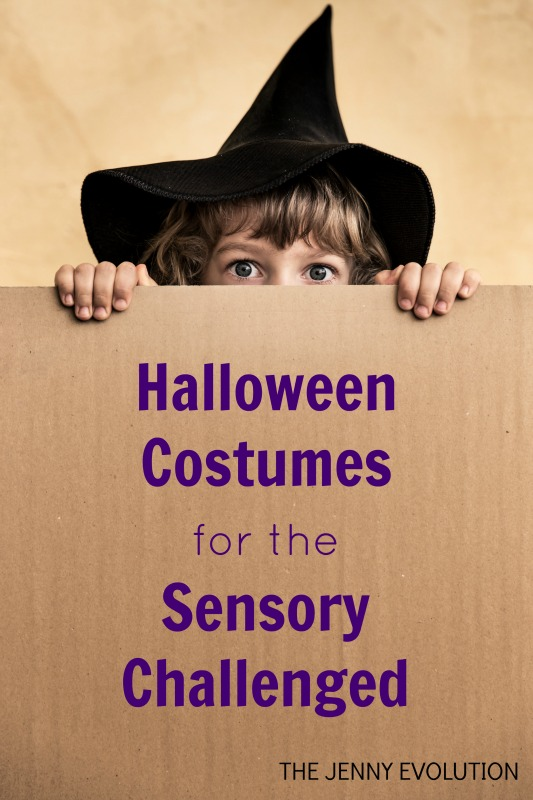 Halloween Costumes for the Sensory Challenged. How to create Sensory-Friendly Halloween Costumes for your Tactile Defensive Child! on The Jenny Evolution