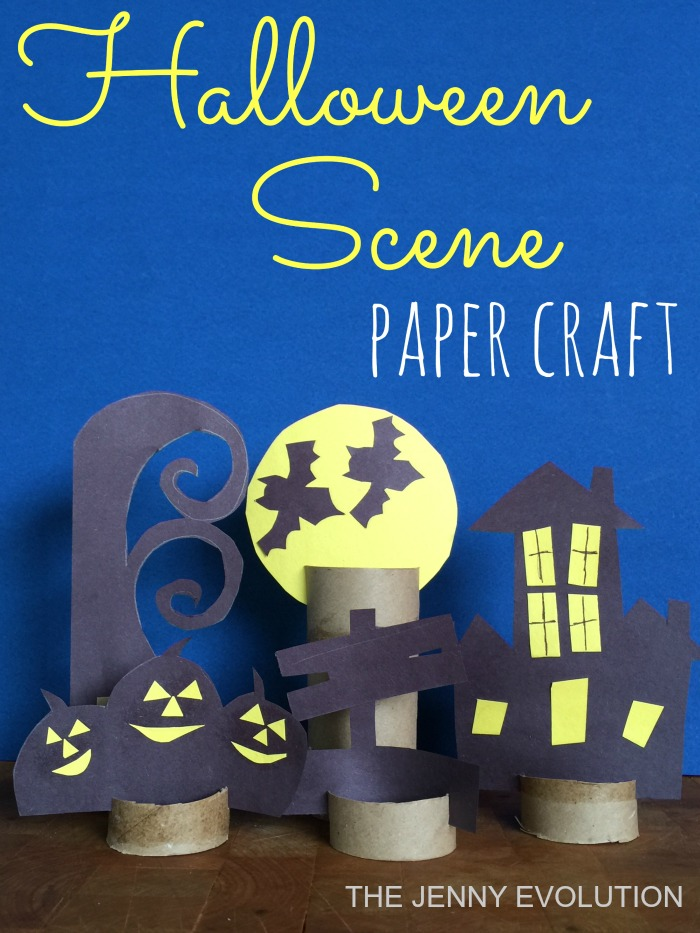 DIY Halloween Decor - Halloween Scene Paper Craft | Mommy Evolution