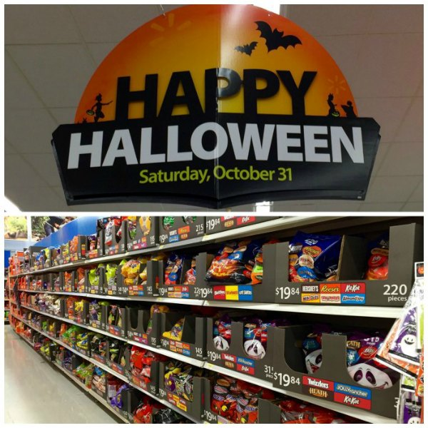 Halloween Section at Walmart