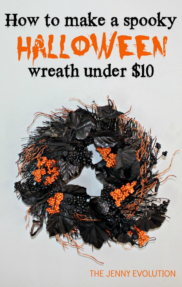 How to make a black Halloween wreath for under $10 | The Jenny Evolution