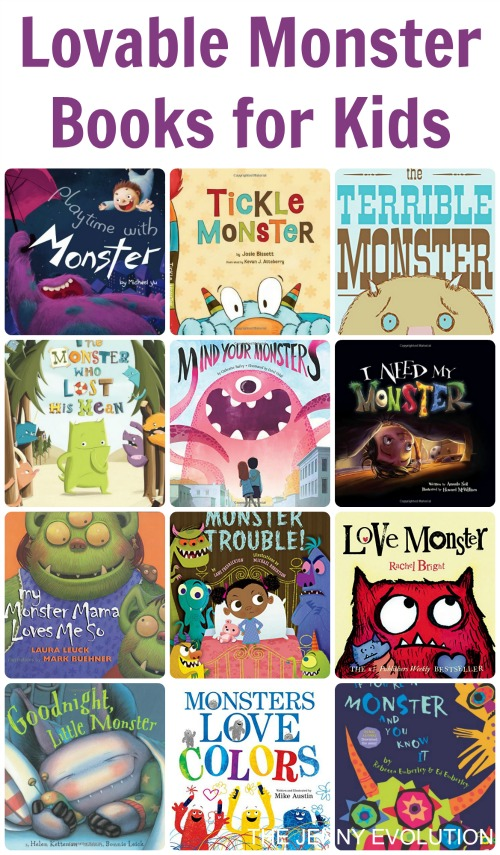 Lovable Monster Books for Kids | Mommy Evolution