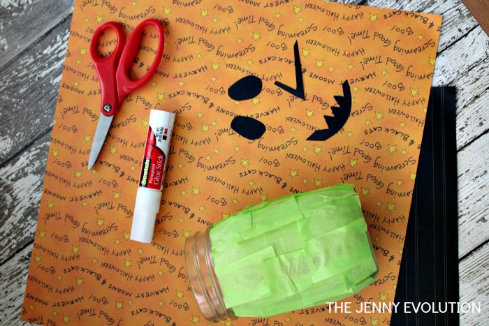 Materials for Halloween Mason Jar Crafts