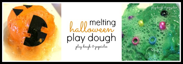 Melting Halloween Play Dough - Play Dough & Popsicles on The Jenny Evolution