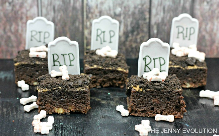 rip brownies with bones - Halloween Brownie Recipe