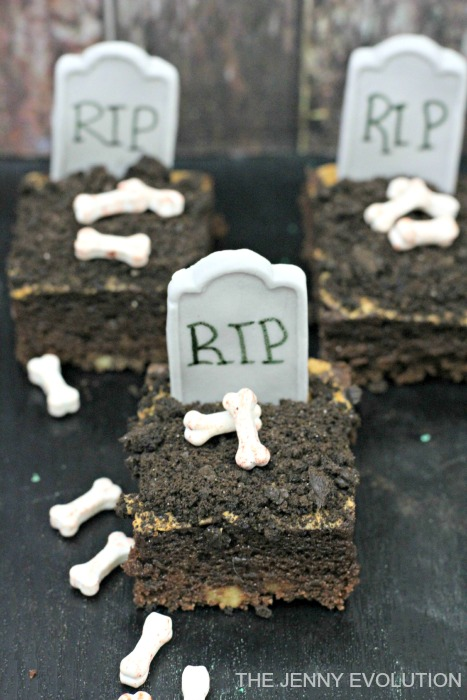 RIP Tombstone Brownies Recipe | Mommy Evolution