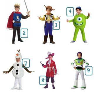 Round Up of Disney BOYS Costumes Under $30 NO HEADER